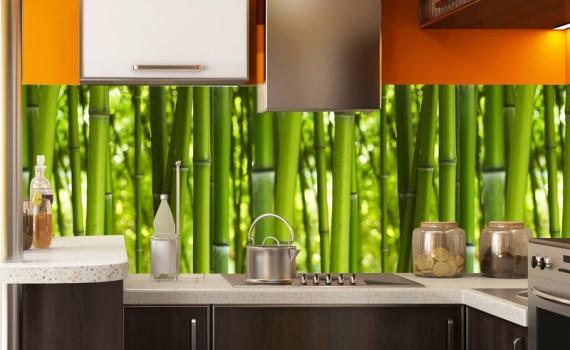 fototapeta do kuchni z bambusami